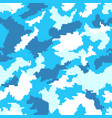 blue and white camouflage seamless background vector image