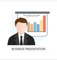 Business Presentation Icon Flat Design vector image