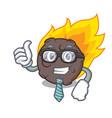 businessman meteorite character cartoon style vector image
