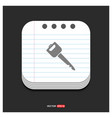 car key icon gray icon on notepad style template vector image vector image
