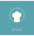 Chef hat inside round dash line frame Menu card vector image vector image