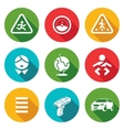 Child safety Icons Set vector image vector image
