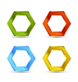 Colorful hexagon set vector image