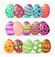 coloring easter eggs isolated on vector image