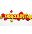 comic discount wording advertising concept vector image vector image