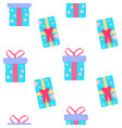 cute party presents seamless pattern vector image vector image