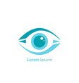 eye symbol on white background vector image