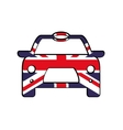 Flag and car icon United Kingdom design vector image vector image