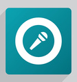 flat microphone icon vector image