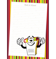 Funny cartoon notepad vector image