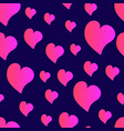 funny red seamless valentines pattern with cartoon vector image