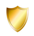 golden shield protection icon image vector image