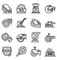 grinding machine icons set outline style vector image vector image