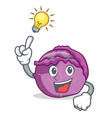 have an idea red cabbage mascot cartoon vector image vector image