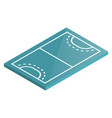 icon playground handball in isometric vector image vector image