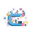 inbound marketing banner - young cartoon vector image vector image