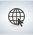 internet icongo to web sign internet symbol globe vector image