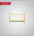 isolated crib flat icon cot element can be vector image
