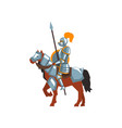 knight riding horse with spear and shield royal