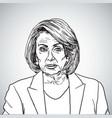nancy pelosi portrait drawing vector image