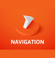 Navigation isometric icon isolated on color