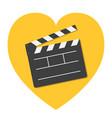 open clapper board template icon flat design vector image vector image