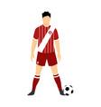 peru football uniform national team vector image