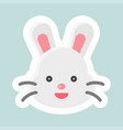 rabbit icon easter and spring flat sticker vector image vector image