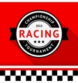 Racing badge 09 vector image vector image