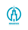 real estate - logo template concept vector image vector image
