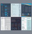 resume or curriculum vitae design template vector image