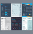 resume or curriculum vitae design template with vector image vector image