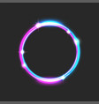round glowing frame bright futuristic vector image