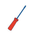screwdriver icon tool object support technology vector image vector image