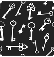 seamless background with keys vector image vector image