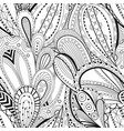 seamless black and white waves pattern wavy vector image vector image