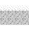 seamless border with folk flowers hand vector image vector image