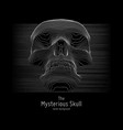 skull constructed with lines mysterious vector image