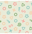 the pattern colored elements vector image vector image