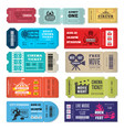 tickets template events entrance tickets in vector image