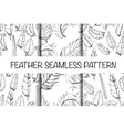 Vintage seamless hand sketched Doodle Pattern vector image vector image