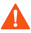 Warning flat orange color icon vector image