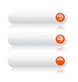 white oval buttons with orange arrows menu vector image vector image