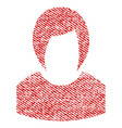 woman profile fabric textured icon vector image vector image