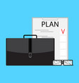 writing business plan vector image vector image
