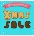 Xmas sale Merry Christmas Cookies font vector image vector image