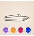 yacht icons vector image vector image
