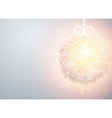 Christmas ball light abstract background vector image