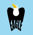Eagle logo falcon Emblem of a bird of prey Hawk vector image