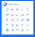 25 sky icons vector image vector image